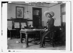Gen. Rodriguez  (LOC) (The Library of Congress) Tags: portrait man office general mexican libraryofcongress sombrero seated mexicanrevolution spittoons generalrodriguez xmlns:dc=httppurlorgdcelements11 dc:identifier=httphdllocgovlocpnpggbain15956 mutualfilmcocopyright