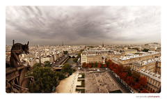 Typical view from Notredame (pano 6 shots) (raul gonza|ez) Tags: paris france panoramic notredame panoramica francia gargola a700 illedefrance