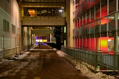 Nachts @ Plus City (austrianpsycho) Tags: building abend nacht gebäude weg nachts parkhaus pasching pluscity