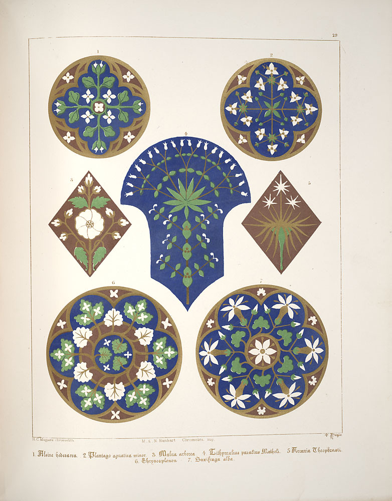 Floriated ornament, a series of thirty-one designs, 1849 - Augustus Welby Northmore Pugin k