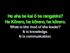 What is the food of the leader? (Whakatauki)