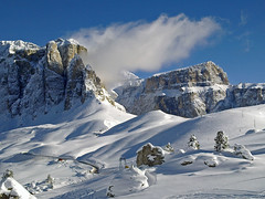 massiccio del sella (claudiophoto) Tags: winter italy snow mountains alps landscape neve inverno alpi paesaggi sella dolomiti fassa colorphotoaward