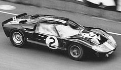 GT40 an Original (tiger289 (The d'Arcy dog supporters club)) Tags: ford gt40 lemans winner winningcar brucemclaren mclaren chrisamon 1966 240mph mulsannestraight motion bw fastpanning panshot fordgt40 fordv8 poweredbyford smallblockford lemans24heures lemans24hours history historicrace carracing legends monochrome blackandwhite stills moviestills