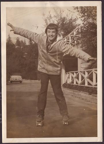 Darlene roller skating