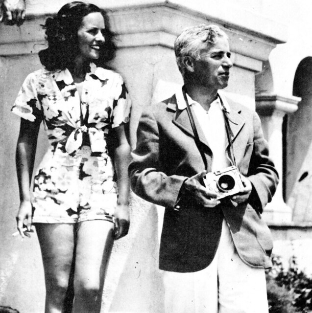 Paulette Goddard and Charlie Chaplin