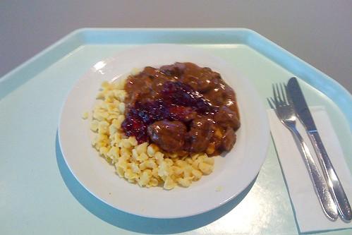 Hirschgulasch mit Knöpfle / Venion goulasch with spaetzle