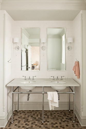 lighting, with similar style mirror, from design sponge
