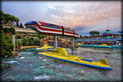 Does it get any better than this? [Explore] (Silver1SWA (Ryan Pastorino)) Tags: canon disneyland sigma lagoon disney submarine monorail walt tomorrowland sigma1020 40d