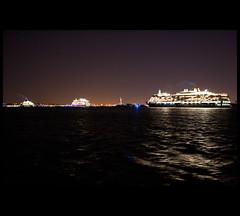 Cunard Convoy (Nrbelex) Tags: nyc newyorkcity cruise ny newyork canon 2470mml ship manhattan batterypark cruiseship hudsonriver hudson gothamist statueofliberty dslr queenmary2 cunard queenvictoria gawker i♥ny queenelizabeth queenmaryii 2470mm newyorkharbor 2470mmf28 xti ef2470mm 400d i♥newyork nrbelex