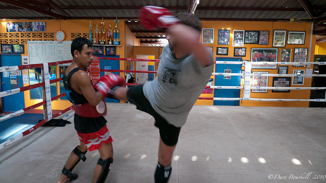 kickboxing training in Thailand