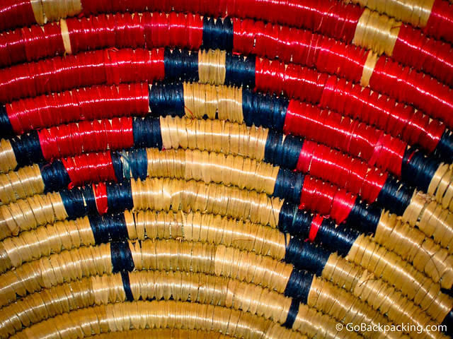Detail of woven bowl