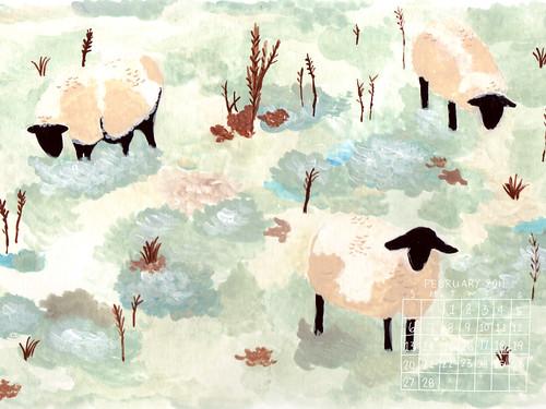 Sheep 1024x768 calendar