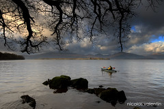 keeps you going.......... (Nicolas Valentin) Tags: winter water clouds scotland amazing scenery kayak january lochlomond ecosse whataplace