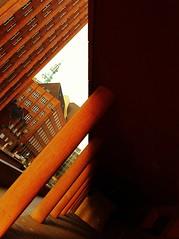 Solid. (Sascha Unger) Tags: light shadow red urban sun rot art silhouette architecture germany design licht angle perspective galerie stadt sascha expressionism architektur photostudio bauhaus dsseldorf rhine sonne rhein schatten rheinland perspektive mauer iphone breitestrasse backstein expressionismus arkade karlstadt carlstadt stahlhof culumn fxphotostudio sascha2010 saschaunger