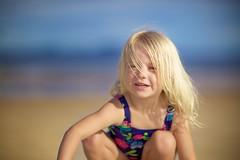 Milla on the beach (Michael Leadbetter Photo) Tags: portrait beach kids canon wind bokeh outdoor headshot ef85mmf12liiusm 5dmarkii