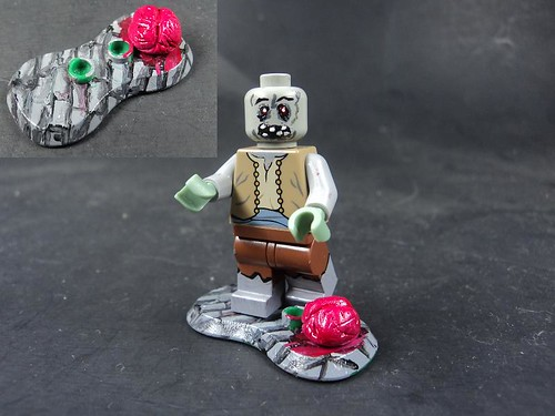 Custom minifig Peasant Zombie
