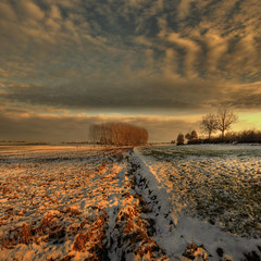 Winter Sunset  -  Explore (rinogas) Tags: winter sunset italy snow clouds nikon piemonte cuneo hdr nikkor1224dx sommarivadelbosco vertorama rinogas selectbestexcellence sbfmasterpiece