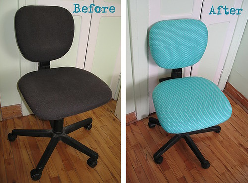 reupholstering an office chair. chair before u0026 after reupholstering an office