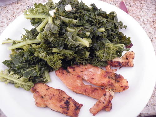Kale with Chicken