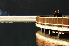 Sospesi (Diego......) Tags: bridge people lake ice reflections lago ponte persone suspended riflessi alleghe ghiacciato sospesi