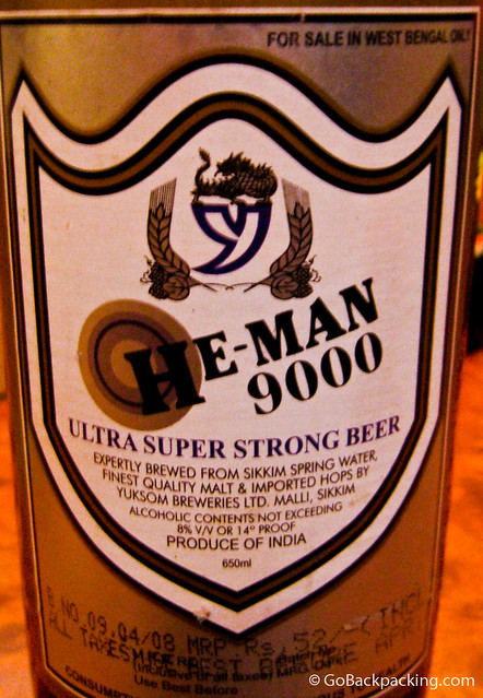 He-Man 9000 Ultra Super Strong Beer from Sikkim, India