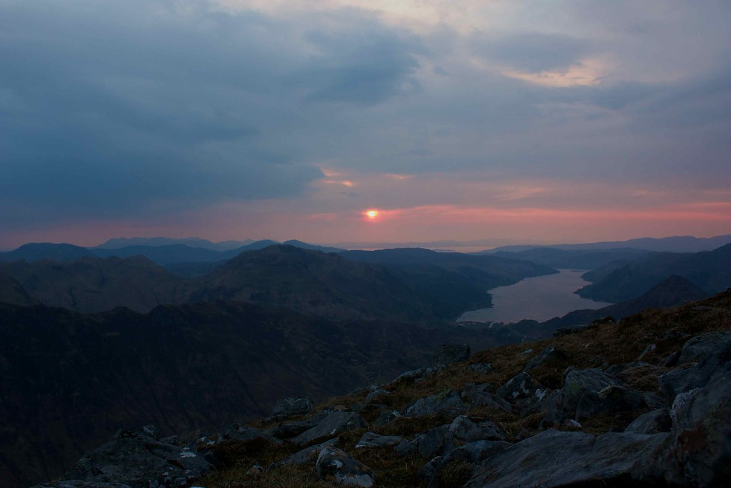 Sunset over Loch Duich