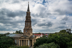 St. Philip's Episcopal Church in Charleston, SC (David Youngblood) Tags: stphilipsepiscopal charleston southcarolina lowcountry church hdr steeple a77ii sonyslt ilca77m2 clouds cloudy cross sal1650 sony1650mmf28