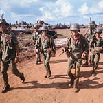 Vietnam War 1969 - 11th Armored Cavalry in rubber plantation near Loc Ninh and Quan Loi thumbnail
