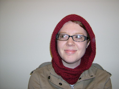 Morning Glory hooded cowl