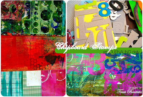 chipboard stamps & prints, architecture rulers