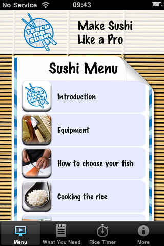 Teach Me Sushi Expert iPhone App
