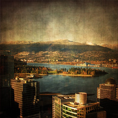 Vancouver skyline (ZedZap Photos) Tags: city travel vacation urban holiday canada texture tourism beach vancouver landscape bay bc canadian vancouverisland pacificnorthwest stanleypark victoriabc nationalgeographic coalharbor zedzap