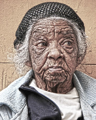 [Free Image] People, Old Age, Grandmother, HDR, 201102021700