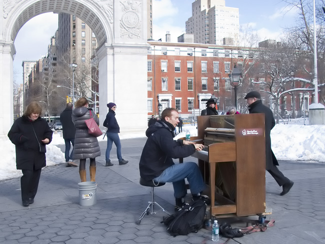 Impromptu Recital, Washington Sq. Park