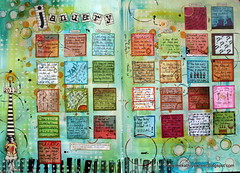 January finished. (thekathrynwheel) Tags: diary artjournal stampotique calendarchallenge