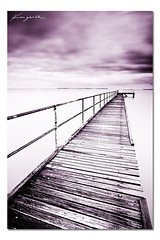Endless ([ Kane ]) Tags: ocean wood old longexposure art water clouds photoshop photography pier purple australia qld queensland aged kane endless gledhill kanegledhill