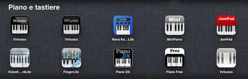 Piano e tastiere su iPad