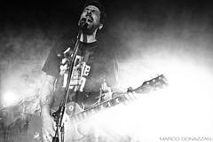 Omar Pedrini (M a r c o D o n a z z a n) Tags: light people rock les club paul skull italian guitar crowd ring jacket rocker marco omar vicenza pedrini donazzan
