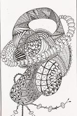 Tangle 17 (kraai65) Tags: drawing doodle zentangle