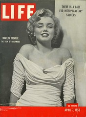 MARILYN MONROE ON THE COVER OF THE APRIL 7TH ISSUE OF LIFE MAGAZINE (THE ENIGMATIC TRAVELER) Tags: marilynmonroe alien ufo 1950s lifemagazine flyingsaucer cropcircle meninblack spacealien philippehalsman