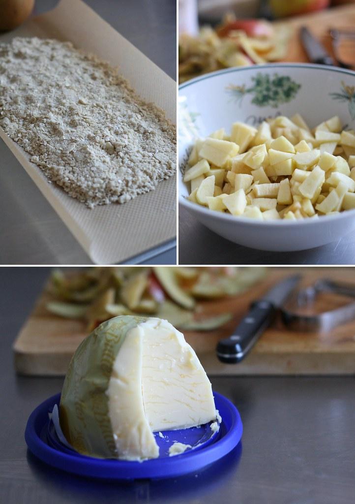 Pommes, crumble et beurre salé