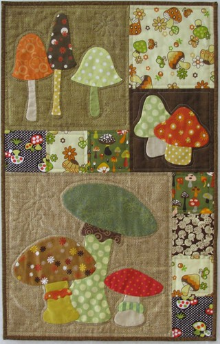 Mellow Mushroom Mini-Quilt