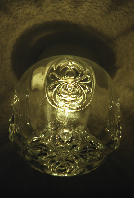 硝子の照明のフリー写真素材