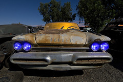 Firedome Deathrattle (Lost America) Tags: lightpainting car night fullmoon junkyard desoto 1959 nocturnes thebigm forwardlook