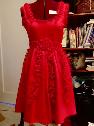 Hermione red dress progress 3
