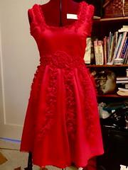 Hermione red dress progress 3