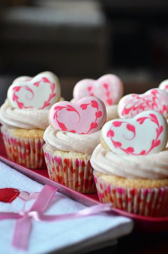 Valentine Strawberry Cupcakes