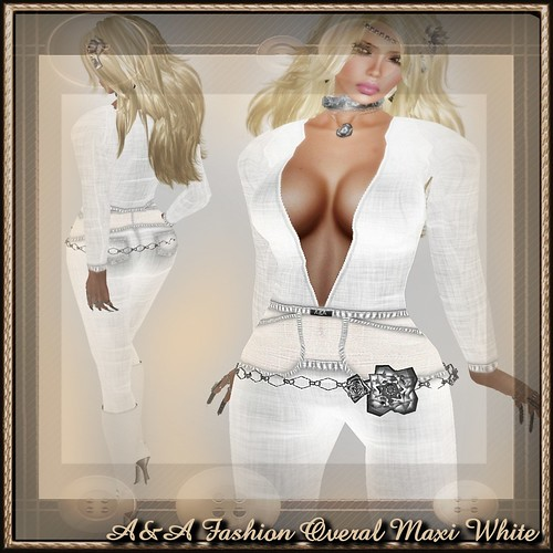 A&A Fashion Overal Maxi White