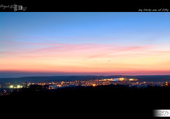 31|50 - My City at Dusk (HD Photographie) Tags: sunset project soleil pentax dusk coucher hd 50 nuit projet herv k7 2011 dapremont hervdapremont project50|50