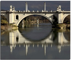The mouth (Nespyxel) Tags: bridge light rome roma contrast reflections river fiume arc ponte tevere riflessi arco luce reflexes corsofrancia simmetrie ponteflaminio symmetries nespyxel stefanoscarselli